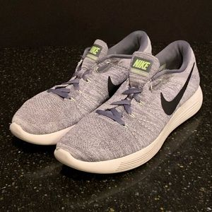 Nike Lunar Epic Flyknit running shoes.  Size 9